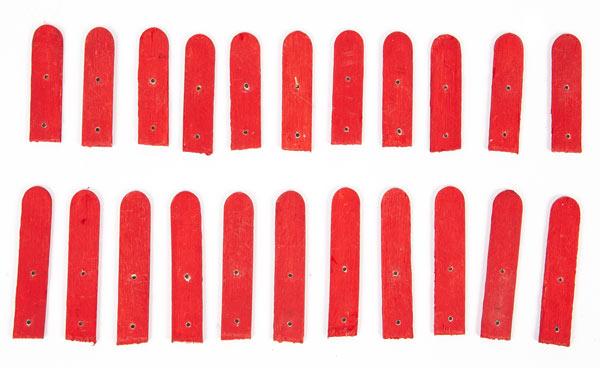 Weihnachtsdeko aus Holzstäbchen basteln - Schritt 21
