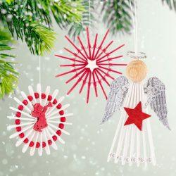 Engel & Sterne aus Holzstäbchen basteln