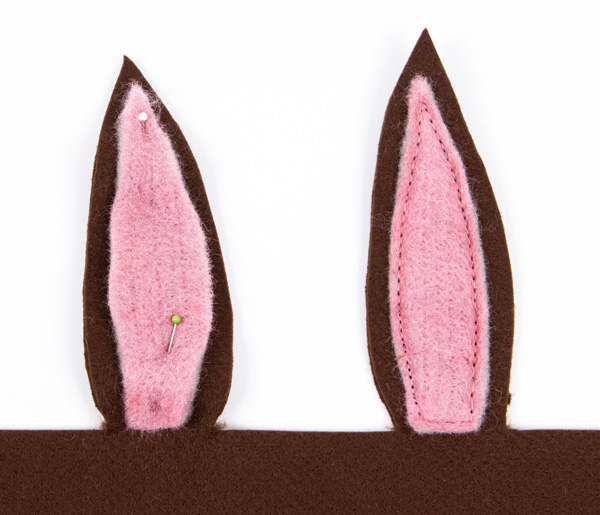 Hasenkörbchen aus Filz nähen - Schritt 2
