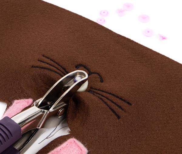 Hasenkörbchen aus Filz nähen - Schritt 5