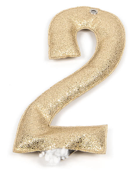 Jahreszahl-Girlande nähen - Schritt 7