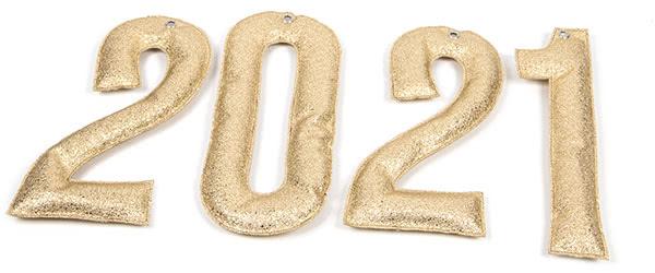 Jahreszahl-Girlande nähen - Schritt 8