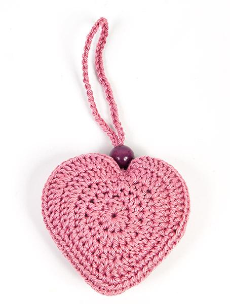 Herzanhänger häkeln - Schritt 6
