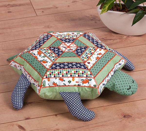Sitzkissen Schildkröte nähen