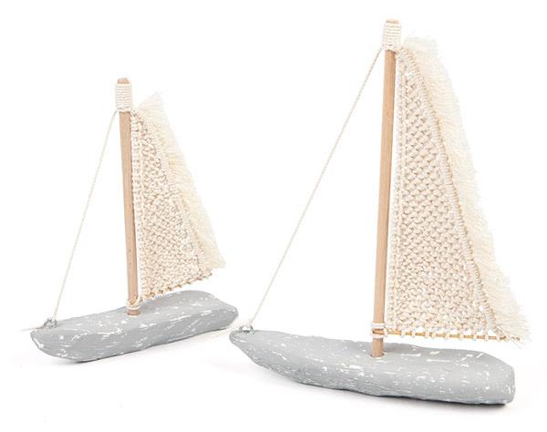 Segelboot mit Makramee-Segel basteln - Schritt 34