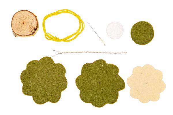 Frühlings-Aufsteller aus Filz basteln - Schritt 13