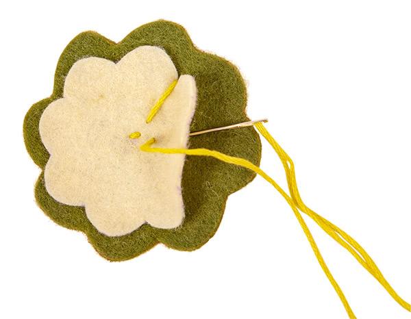 Frühlings-Aufsteller aus Filz basteln - Schritt 16