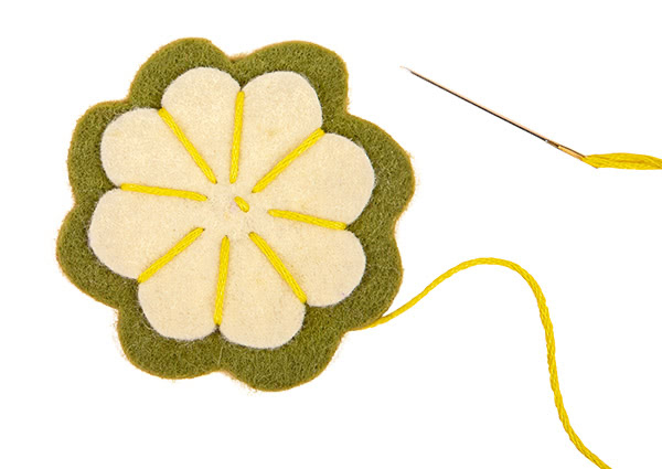 Frühlings-Aufsteller aus Filz basteln - Schritt 17