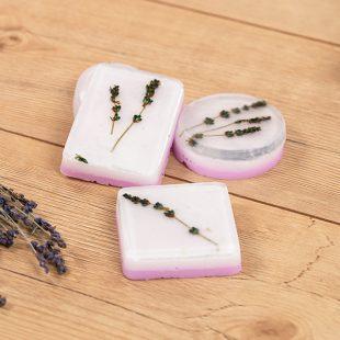 Lavendelseife gießen