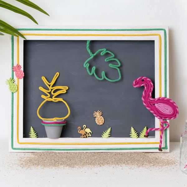 Tropische Figuren aus Strickschlauch
